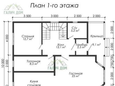 Картинка (5) Планировка 1-го этажа (ДБ-29)