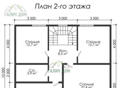 Картинка (6) Планировка 2-го этажа (ДБ-29)