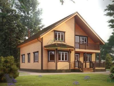 Картинка (2) Двухэтажный дом из бруса 11 на 11 (ДБ-29)