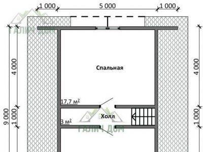 Картинка (6) Планировка 2-го этажа дома из бруса 12х13 с мансардой (ДБ-20)