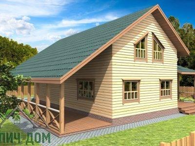 Картинка (3) Проект дома из бруса 12х12 (ДБ-74)