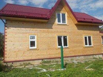 Отделка дома из профилированного бруса по проекту ДБ-90