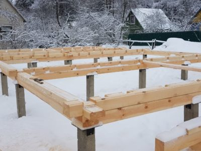 Начало строительства дома в Можайском районе Московской области