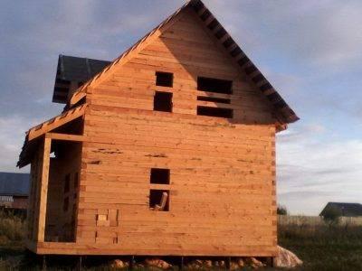 Картинка (8) Готовый дом из бруса 7х7,5 с мансардой (ДБ-30)