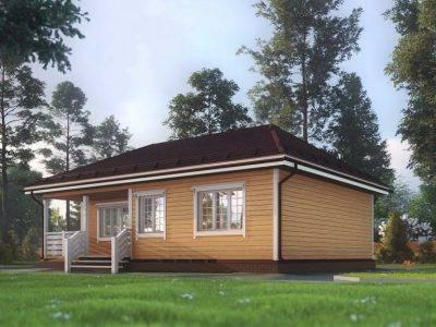 Картинка (4) Одноэтажный дом из бруса 8х11