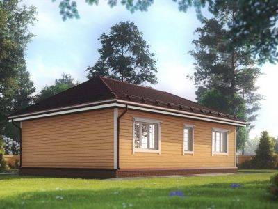 Картинка (3) Одноэтажный дом из бруса 8х11