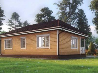 Картинка (2) Одноэтажный дом из бруса 8х11