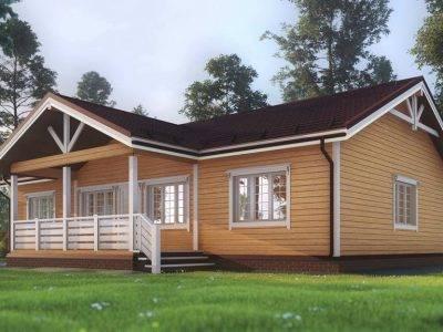 Картинка (2) Одноэтажный дом 13х15 из бруса