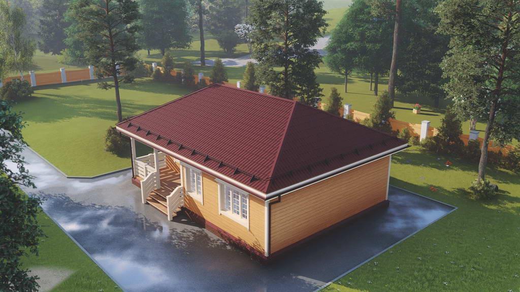 Картинка (1) Одноэтажный дом из бруса 8х11