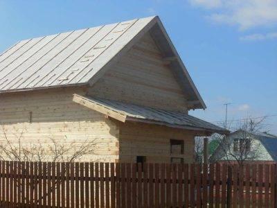 Фотоотчет строительства дома из профилированного бруса ДБ-117