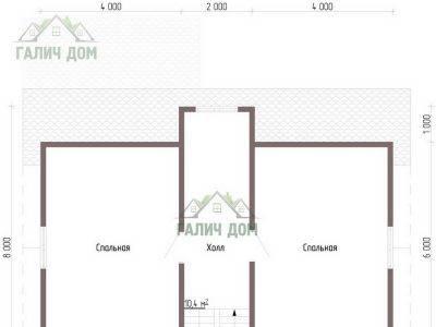 Картинка (5) Планировка 2-го этажа (ДБ-109)