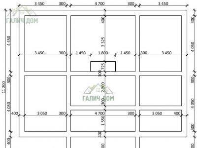 Картинка (7) План фундамента дома 9х12 (ДБ-96)