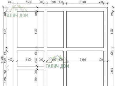 Картинка (7) План фундамента дома 9 на 10 (ДБ-85)