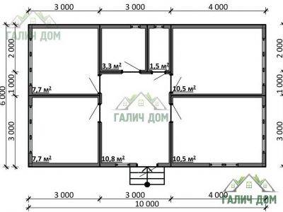 Картинка (5) Планировка дома (ДБ-103)