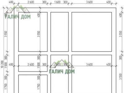Картинка (7) План фундамента дома (ДБ-104)