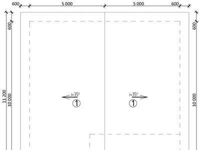 Картинка (8) План кровли дома (ДБ-107)