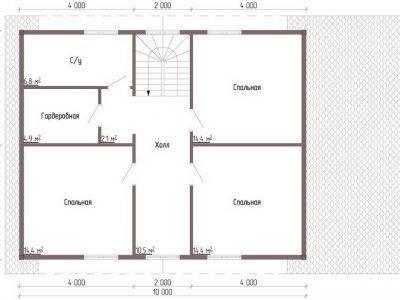 Картинка (9) 2-й вариант планировки 2-го этажа (ДБ-73)