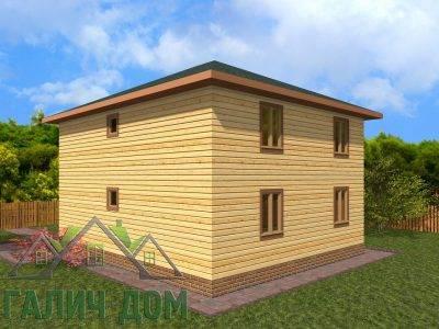 Картинка (3) Проект двухэтажного дома из бруса 8х9 (ДБ-70)