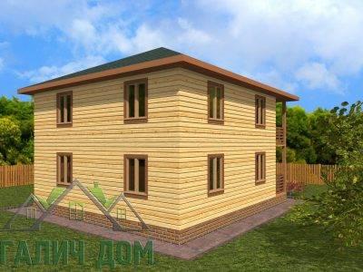 Картинка (4) Проект двухэтажного дома 8х9 (ДБ-70)