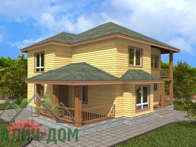ДБ-68 | Двухэтажный дом из бруса 9х10