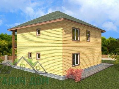 Картинка (3) Проект двухэтажного дома из бруса 9х10 (ДБ-68)