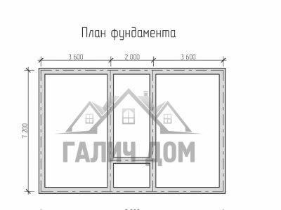 Картинка (7) План фундамента дома из бруса 7х9