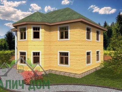 Картинка (2) Двухэтажный дом из бруса 9х9 (ДБ-67)