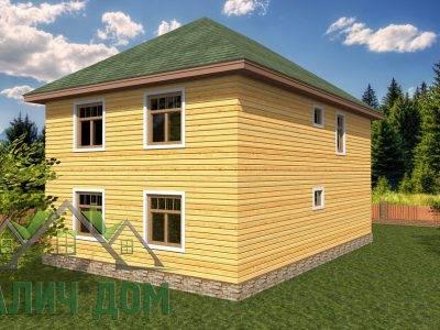 Картинка (3) Проект двухэтажного дома 9х9 с эркером (ДБ-67)