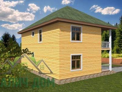 Картинка (4) Проект двухэтажного дома из бруса 9х9 (ДБ-67)