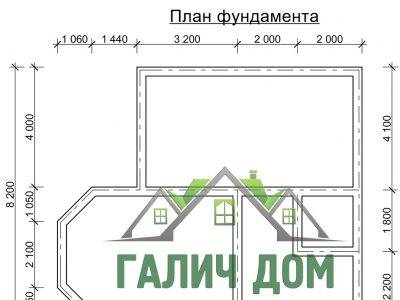 Картинка (7) План фундамента дома из бруса 8х9 (ДБ-35)