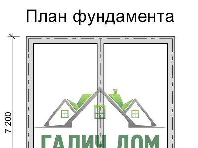 Картинка (7) План фундамента дома из бруса 6 на 7 (ДБ-33)