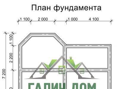 Картинка (7) План фундамента двухэтажного дома из бруса 7х8 (ДБ-25)