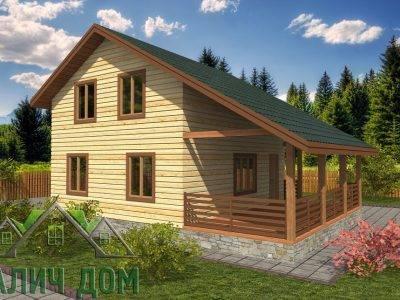 Картинка (2) Дом из бруса 7х9 (ДБ-34)