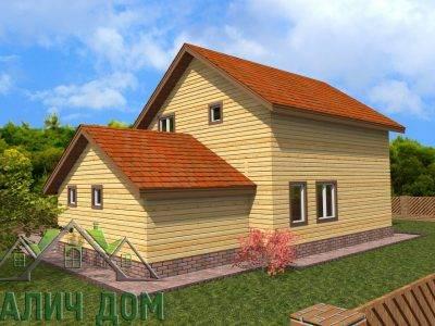 Картинка (2) Двухэтажный дом из бруса 8х12 (ДБ-73)