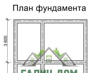 Картинка (7) План фундамента дома из бруса 6х8