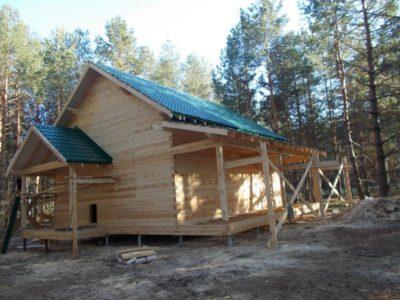 Фоторепортаж строительства дома в с. Доброе