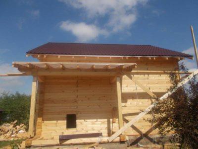 Фоторепортаж строительства дома в д. Гаврилково