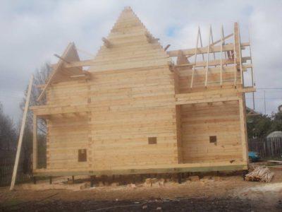 Строительство дома из бруса в г. Говрилов-Ям Ярославская обл.
