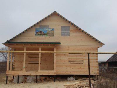 Строительство дома из бруса в п. Дивеево Нижегородской обл.