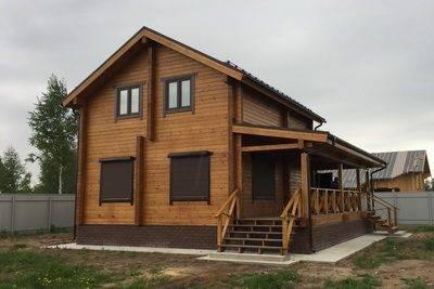 Готовый двухэтажный дом из бруса