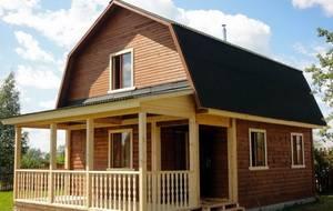 Дачный дом из бруса эконом-класса