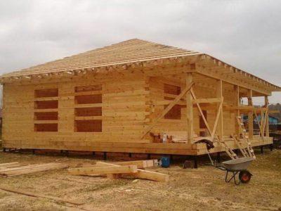 Строительство одноэтажного дома из бруса в Ступинском районе