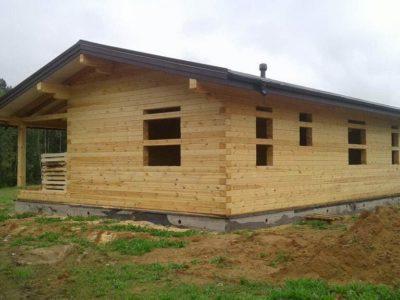 Строительство одноэтажного дома из бруса в Солнечногорском  районе