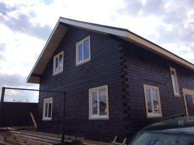 Отделка дома из профилированного бруса в Московской области