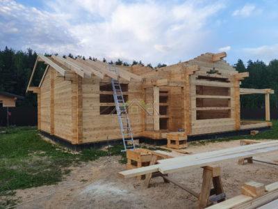 Строительство одноэтажного дома из профилированного бруса в Солнечногорском районе