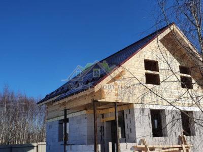 Строительство второго этажа дома из профилированного бруса в Можайском районе