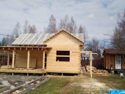 Процесс строительства одноэтажного дачного дома в Клинском районе