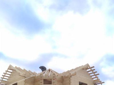 Процесс строительства двухэтажного дома в Солнечногорском районе, д. Бережки