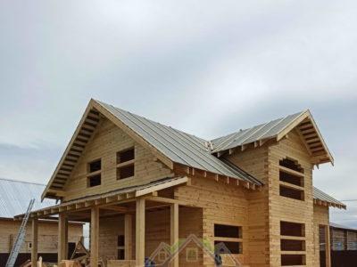 Строительство полутораэтажного дома в Павлово-Посадском районе