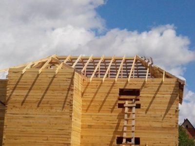 Фоторепортаж — строительство домов в Московской обл.